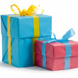 Color gift boxes — Stock Photo #4271203