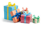 Color gift boxes — Stock Photo