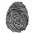 Stock Vector: Finger print