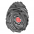 Finger print — Stock Vector