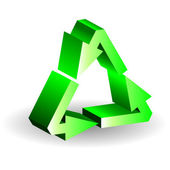 3d Recycle symbol. Vector illustration. — Stock Vector