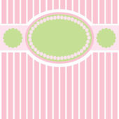 Green-pink gentle retro stripes background — Stock Vector