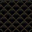 Vector illustration of black leather background with golden patt — 图库矢量图片