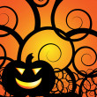 Jack-O-Lantern background - perfect for a Halloween card! — Stock Vector