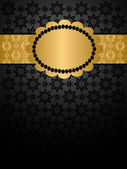 Роскошный фон черный и золото — Cтоковый вектор