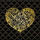 Gold Floral Ornament - vector elements — Stock Vector