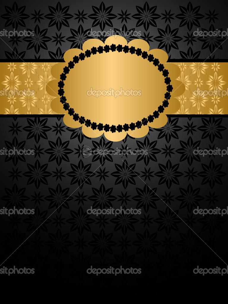 Luxury Background Black and Gold  — Stock Vector #4068021