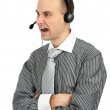 Royalty-Free Stock Photo: Angry phone operator
