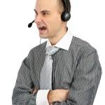 Angry phone operator — Stock Photo #4277769
