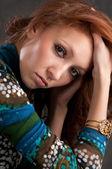 Retrato de uma linda mulher — Foto Stock