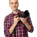 hombre con cámara profesional — Foto de Stock   #4619724