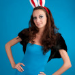 Beautiful young woman with rabbit ears — Stock Photo #4673651