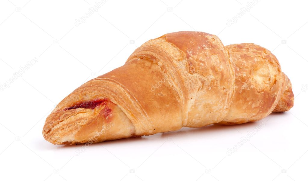 Fresh croissant on white — Stock Photo #4871958
