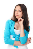 Thinking young girl — Stock Photo