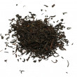 Black tea loose dried tea leaves, isolated — Stock Photo
