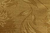 Golden floral ornament brocade textile pattern — Stock Photo