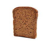 Brown bread slice isolated on white background — Stock Photo