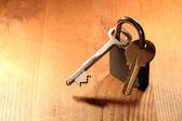 Padlock And Keys — Stock Photo
