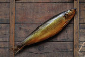 Bloater On Wood — Stock Photo