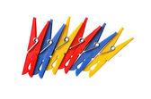Motley Clothespins — Stock Photo