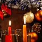 Christmas Champagne — Stock Photo