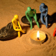 Plasticine Around Fire — Stock Photo