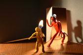 Karanlık odanın — Stok fotoğraf