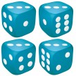 Three Dice — Stock Vector