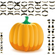 Halloween pumpkin 9 — Stock Vector