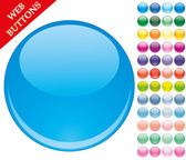 49 colored buttons — Vector de stock