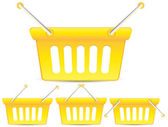 Cestas de amarillas — Vector de stock