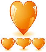 Orange hearts — Stock Vector