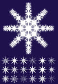 Snowflakes — Wektor stockowy
