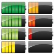 Battery set - Stock Vector