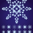 Royalty-Free Stock Vector Image: Snowflakes, part 2