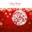Red Christmas card - Stock Vector