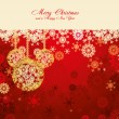 Red Christmas card — Vector de stock #4310224