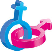 Gender sign, part 1 — Stock Vector