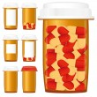 Medicine bottles, part 3 — Stock Vector