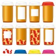 Royalty-Free Stock Vector Image: Medicine bottles, part 2