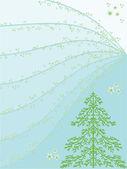 Ель дерево — Cтоковый вектор