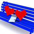 Stock Photo: Letter on bench