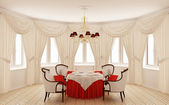 Classical interior of a dining room — Foto de Stock