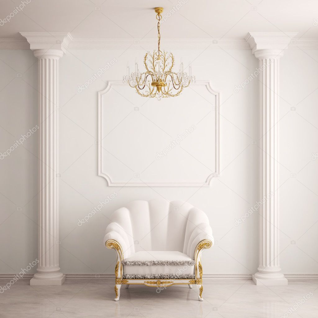 Classical interior with an armchair (3d rendering) — Stock Photo #5079544