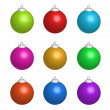 Illustration of colour christmas balls — Foto Stock