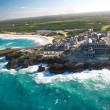 Caribbean resort from helicopter view — Stock Photo