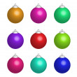 Illustration of colour christmas balls — Stock Photo