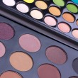 Stock Photo: Neutral and multicolour eyeshadows palettes