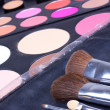 Stock Photo: Professional make-up tools, backstage