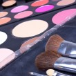 Professional make-up tools, backstage — Stock Photo